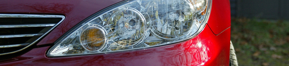 Red car headlight, buying a used car