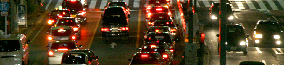 Car traffic at night, no-claims bonus